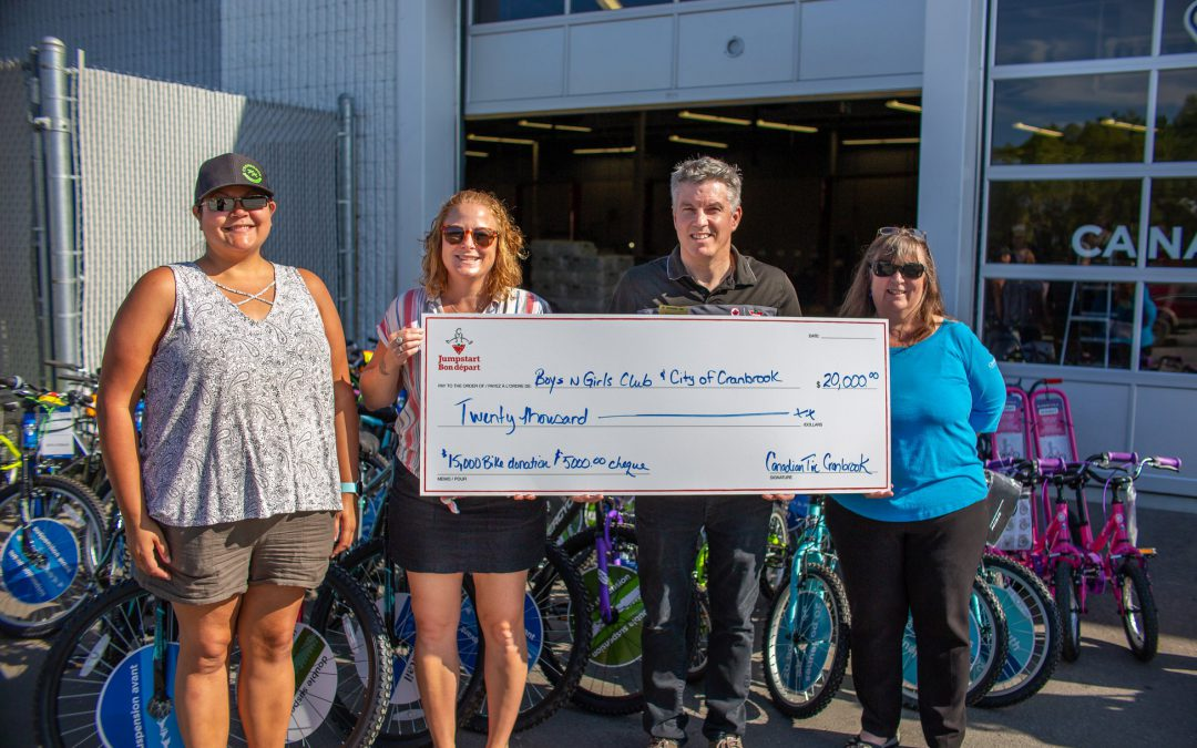 Canadian Tire's Jumpstart donates $20,000 for children and youth biking initiatives